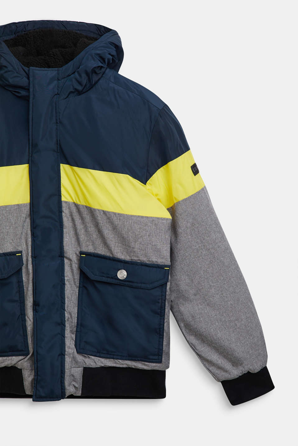 Padded outdoor jacket with fleece lining, LCNAVY, detail image number 2