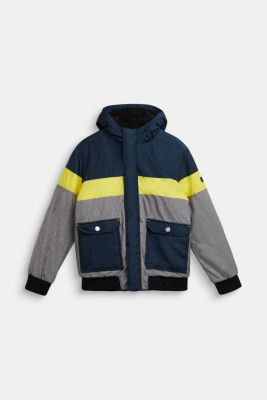 Padded outdoor jacket with fleece lining, LCNAVY, detail
