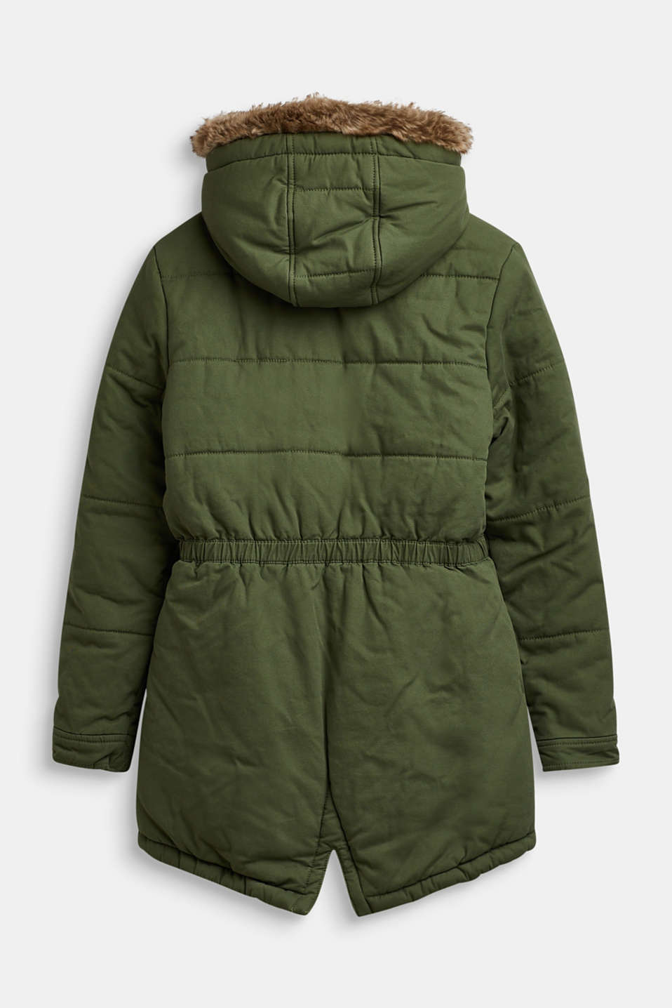 Quilted parka with a faux fur hood, LCOLIVE, detail image number 1
