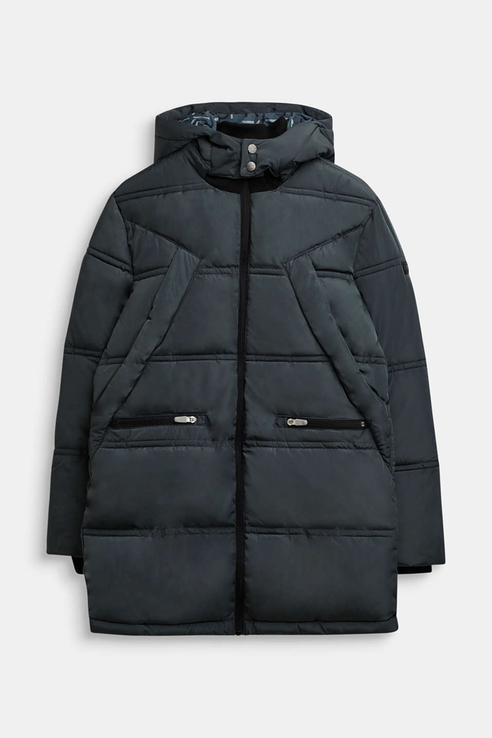 Quilted coat with hood, LCPEEBLE, detail image number 0
