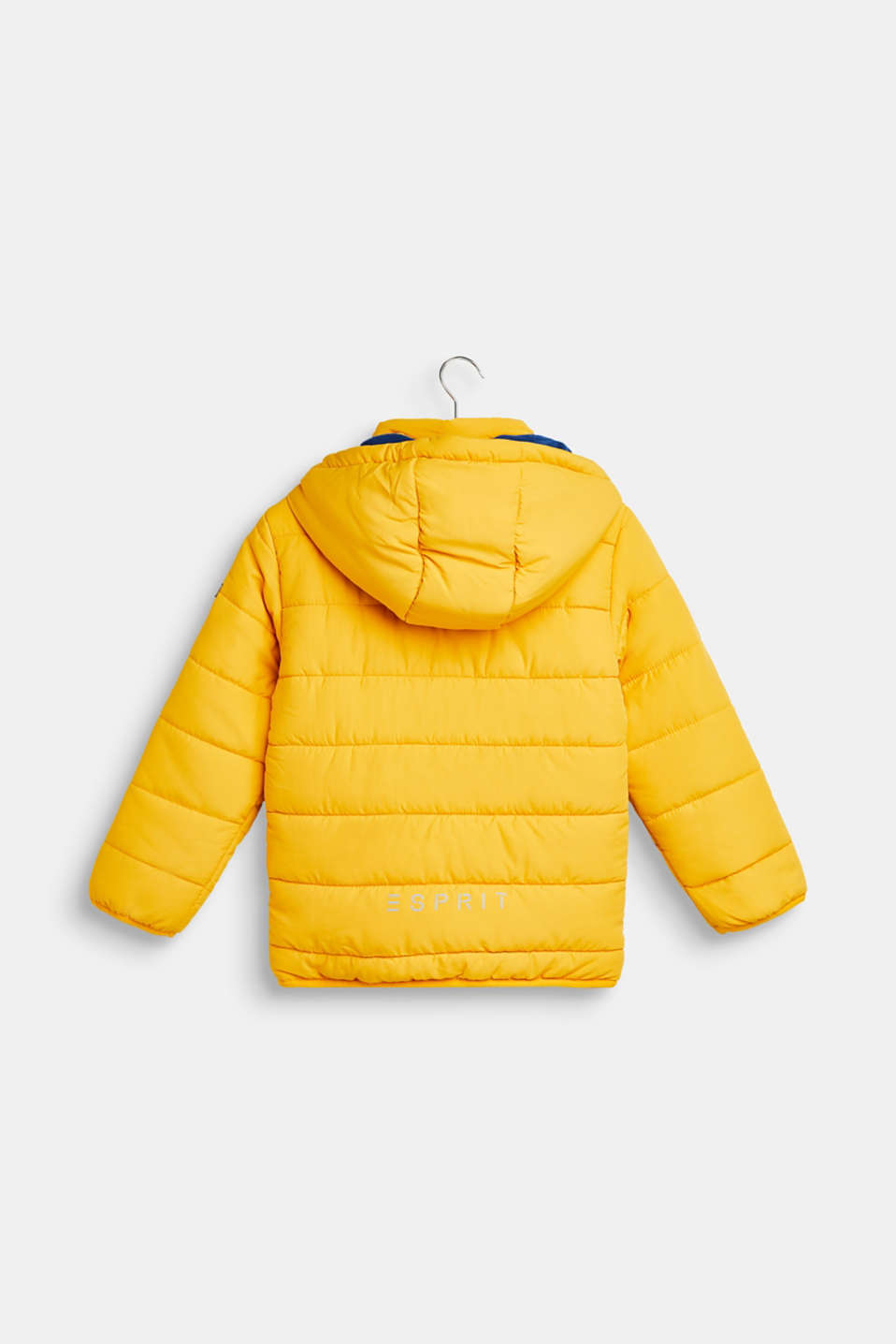 Jacket with fleece lining and adjustable hood, MUSTARD, detail image number 1