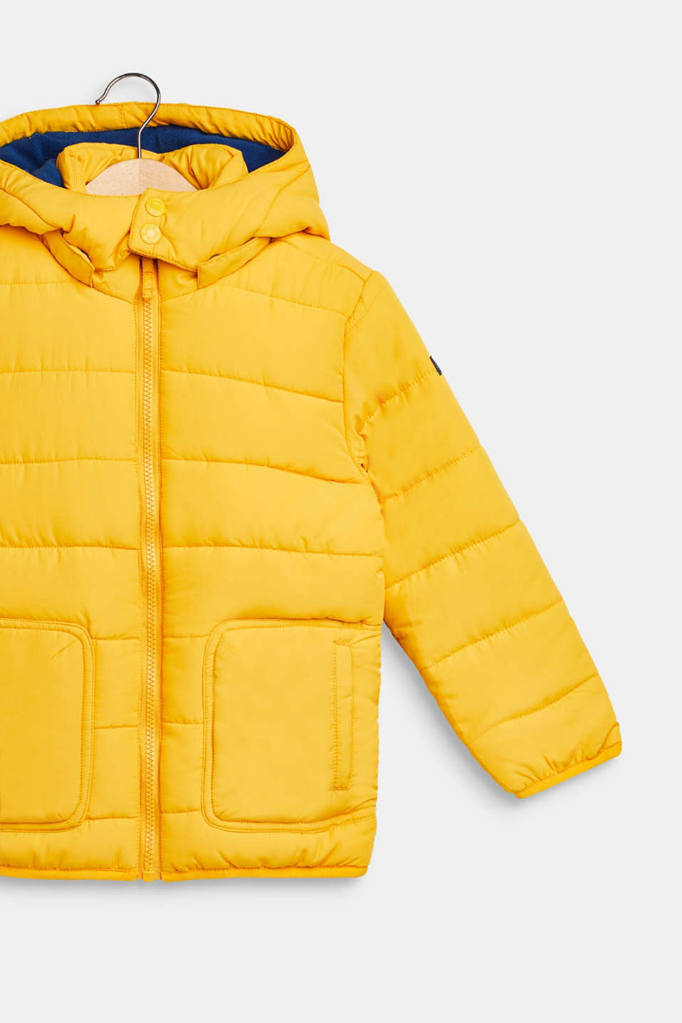 Jacket with fleece lining and adjustable hood, MUSTARD, detail image number 2