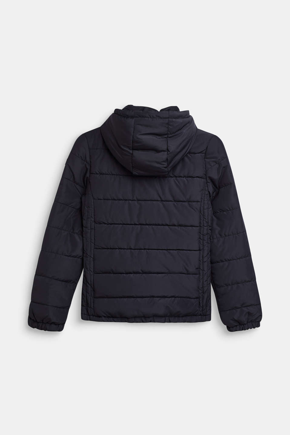 Quilted jacket with a hood and fleece lining, LCBLACK, detail image number 1