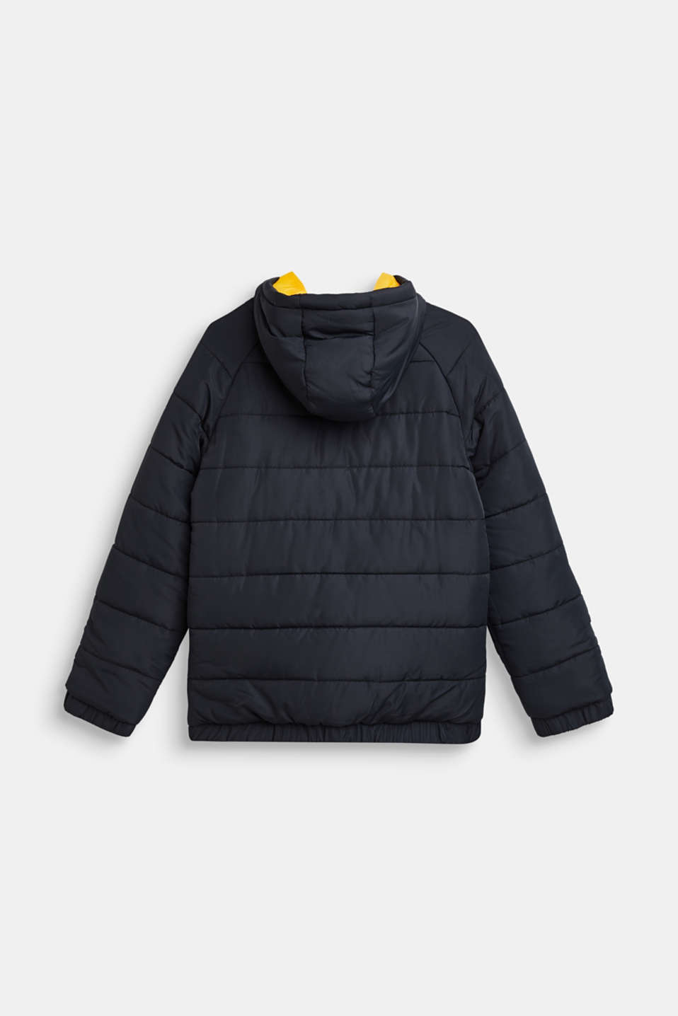 Warm quilted jacket with fleece lining, LCBLACK, detail image number 1