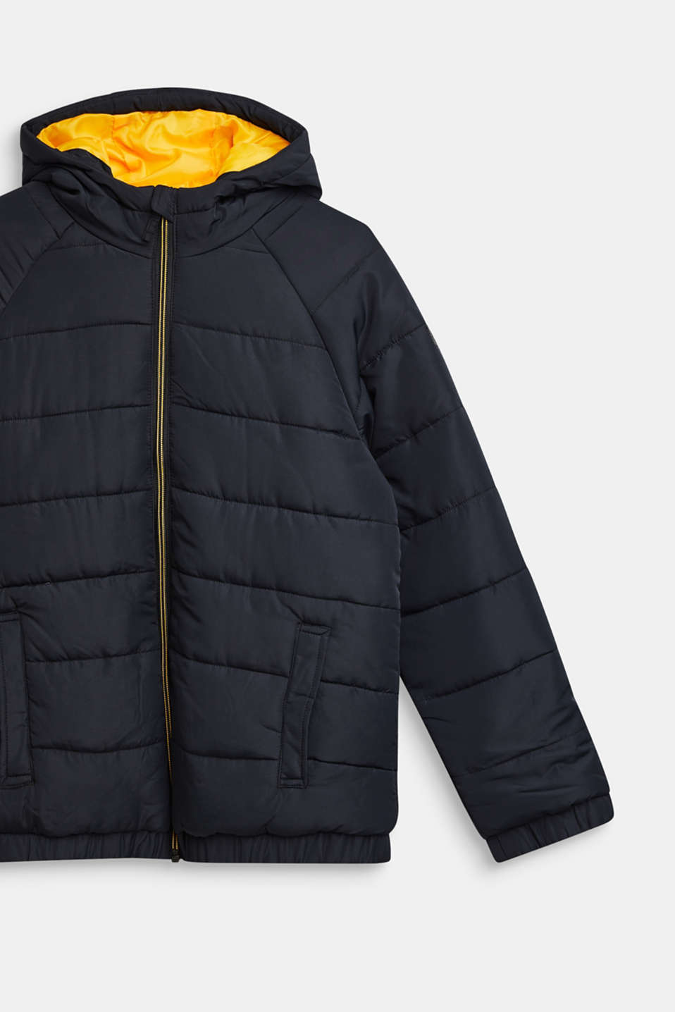 Warm quilted jacket with fleece lining, LCBLACK, detail image number 2