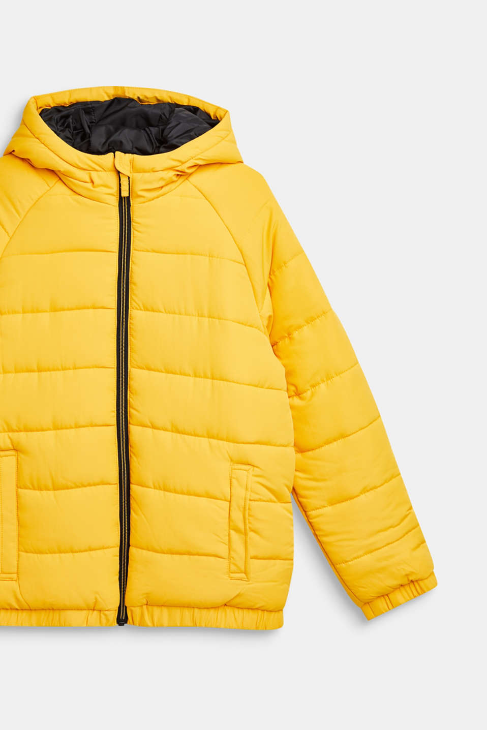 Warm quilted jacket with fleece lining, LCMUSTARD, detail image number 2
