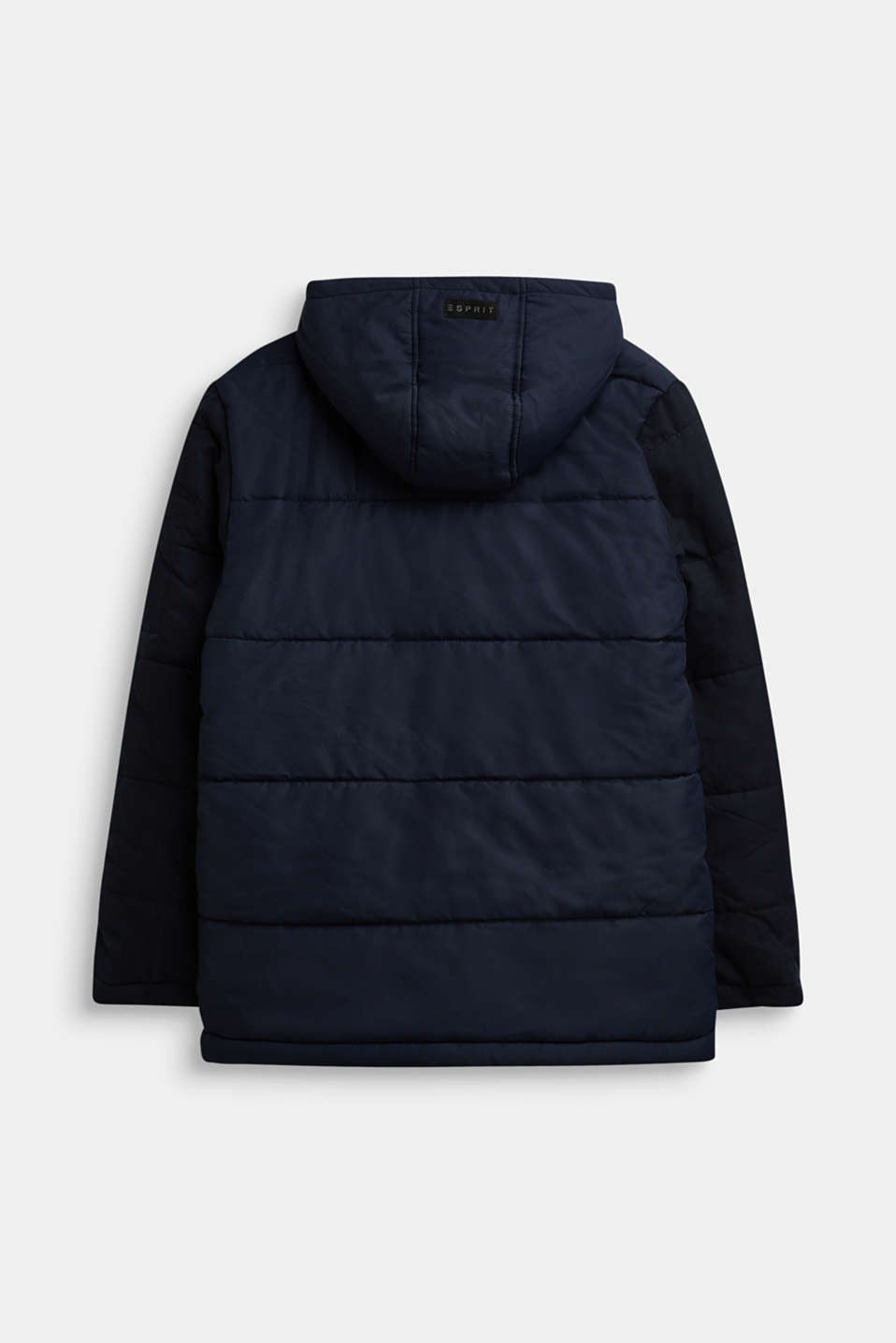 Quilted jacket in a material mix, LCNAVY, detail image number 1