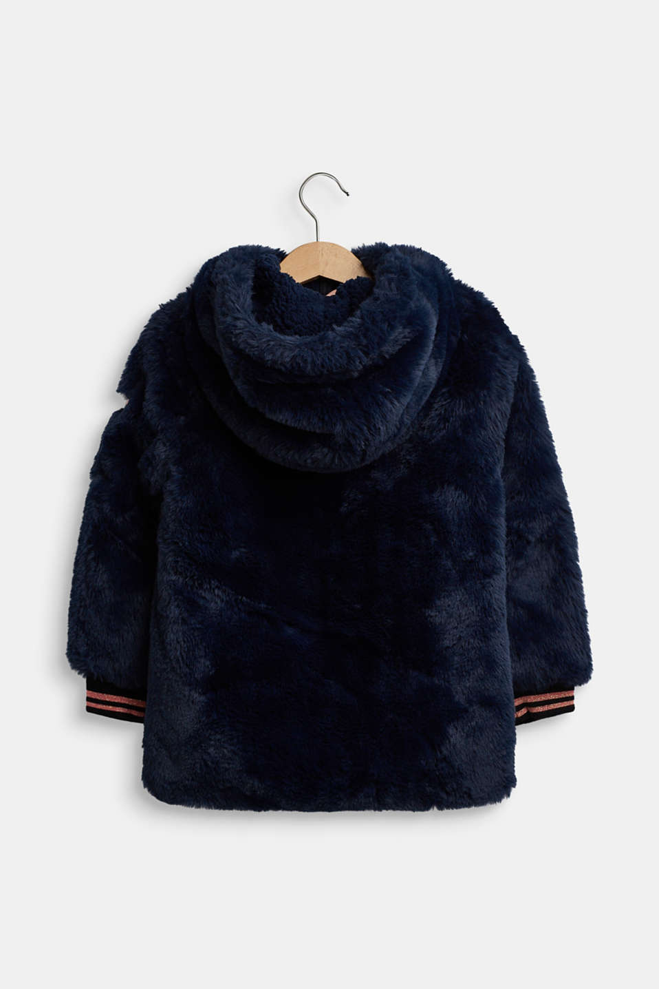 Faux fur jacket, NAVY, detail image number 1