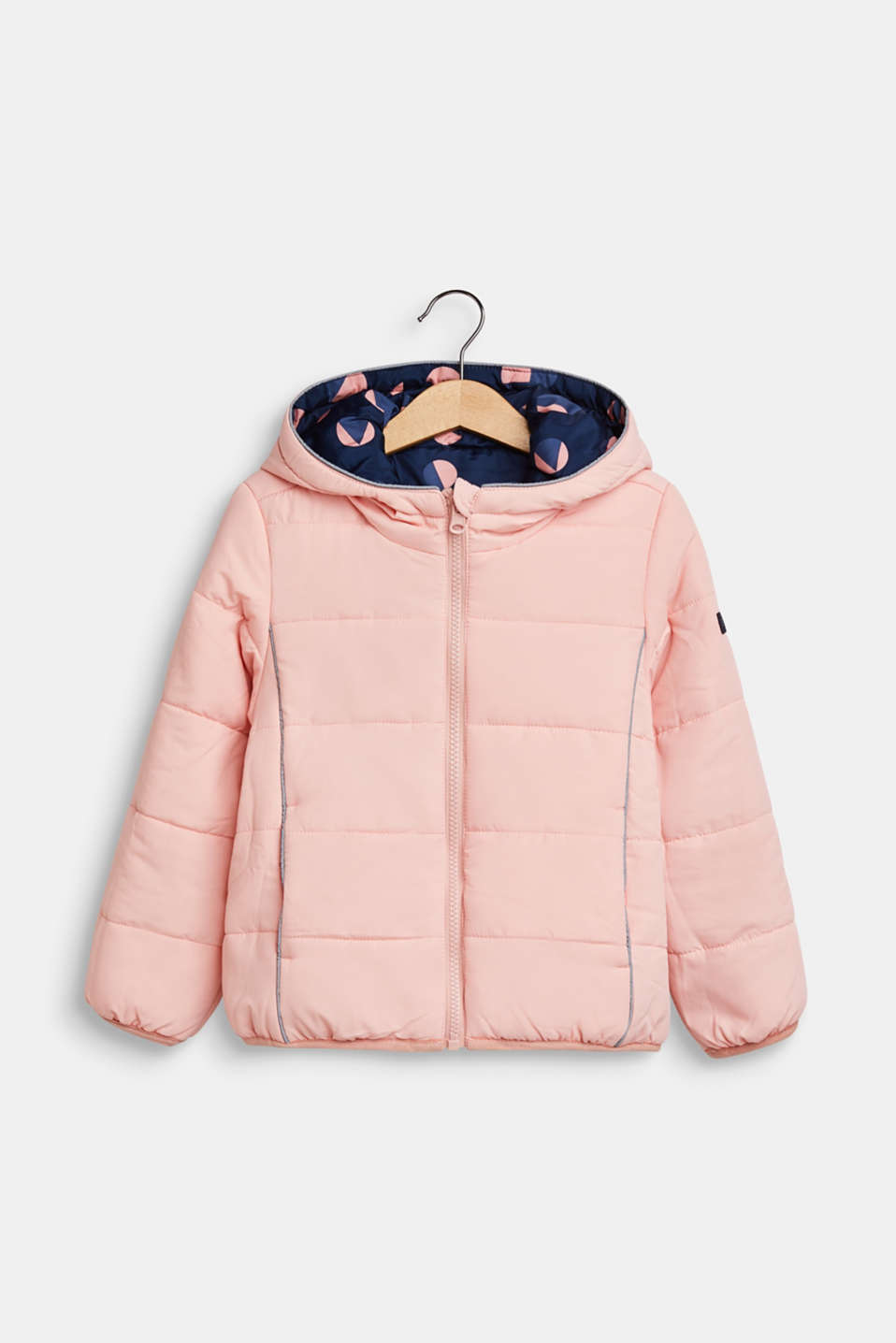 Padded reversible jacket, indigo, detail image number 3