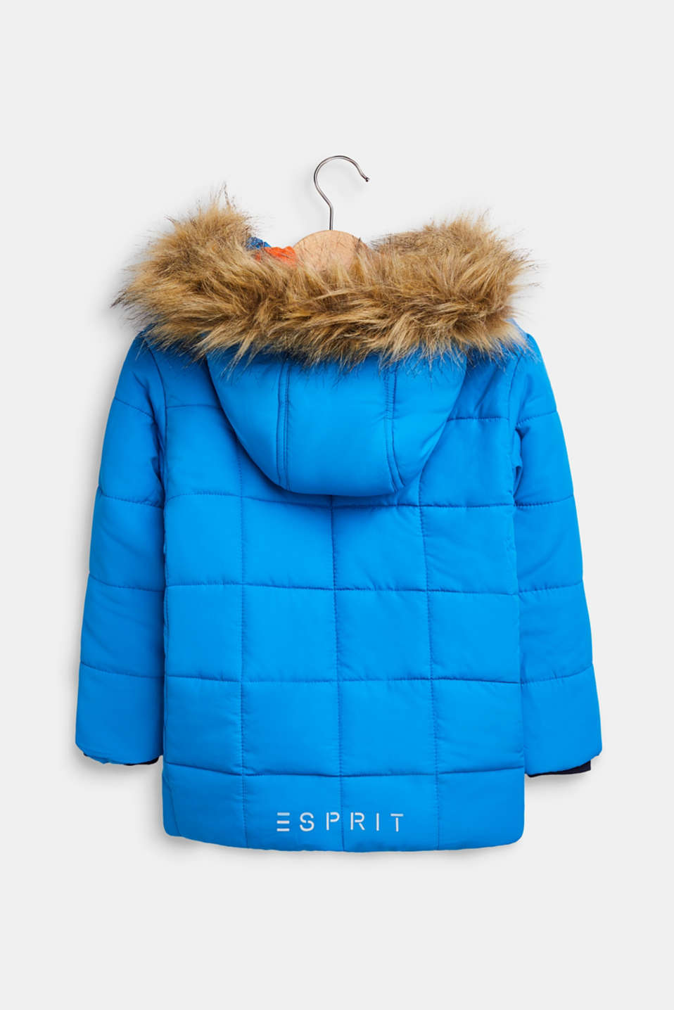Quilted jacket with reflective details, SPARROW BLUE, detail image number 1
