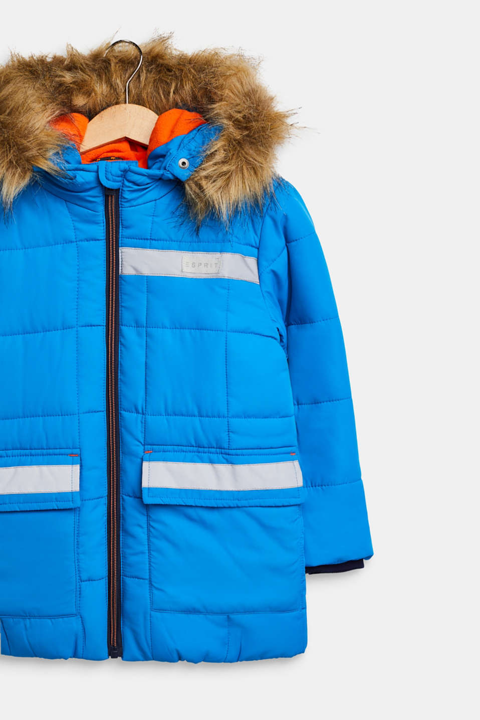 Quilted jacket with reflective details, SPARROW BLUE, detail image number 2