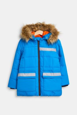 Quilted jacket with reflective details, SPARROW BLUE, detail