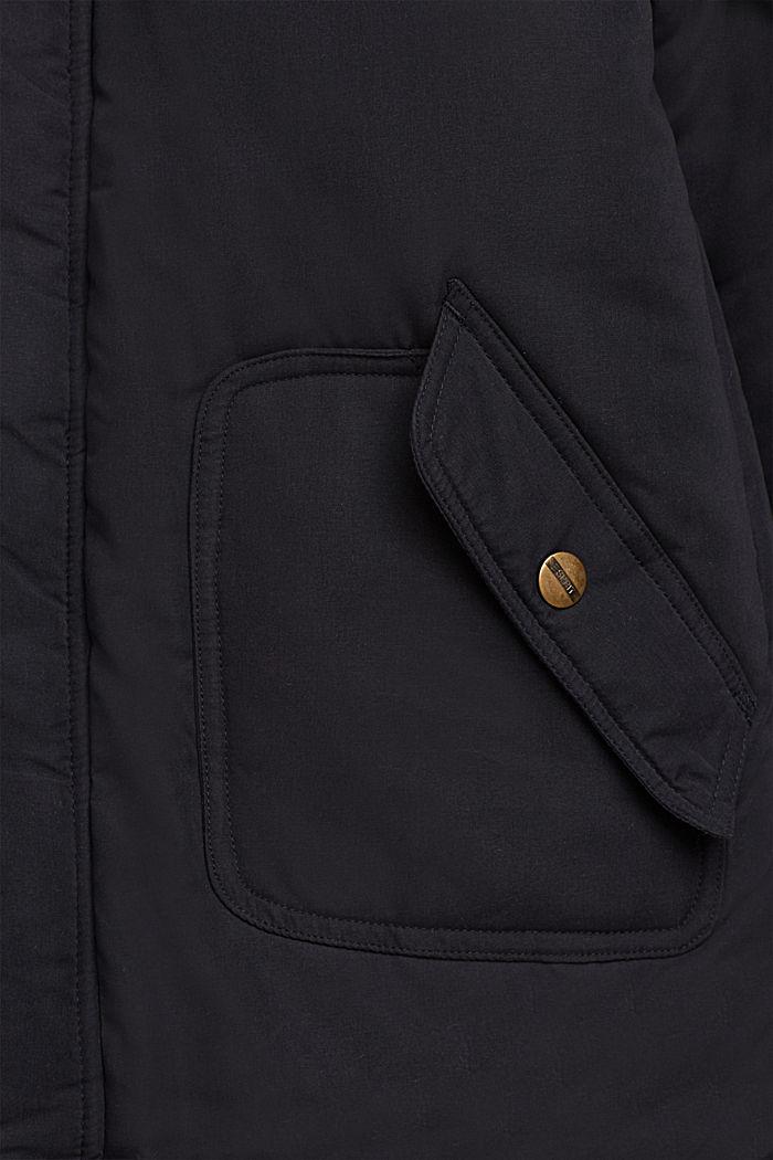 Parka met fleece voering en variabele capuchon, BLACK, detail image number 2