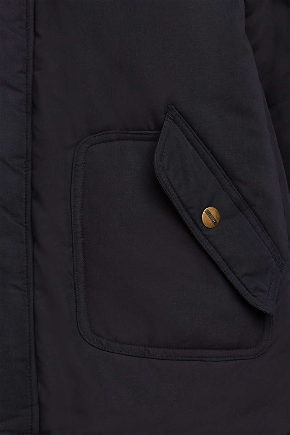 Parka with fleece lining and adjustable hood, LCBLACK, detail image number 2