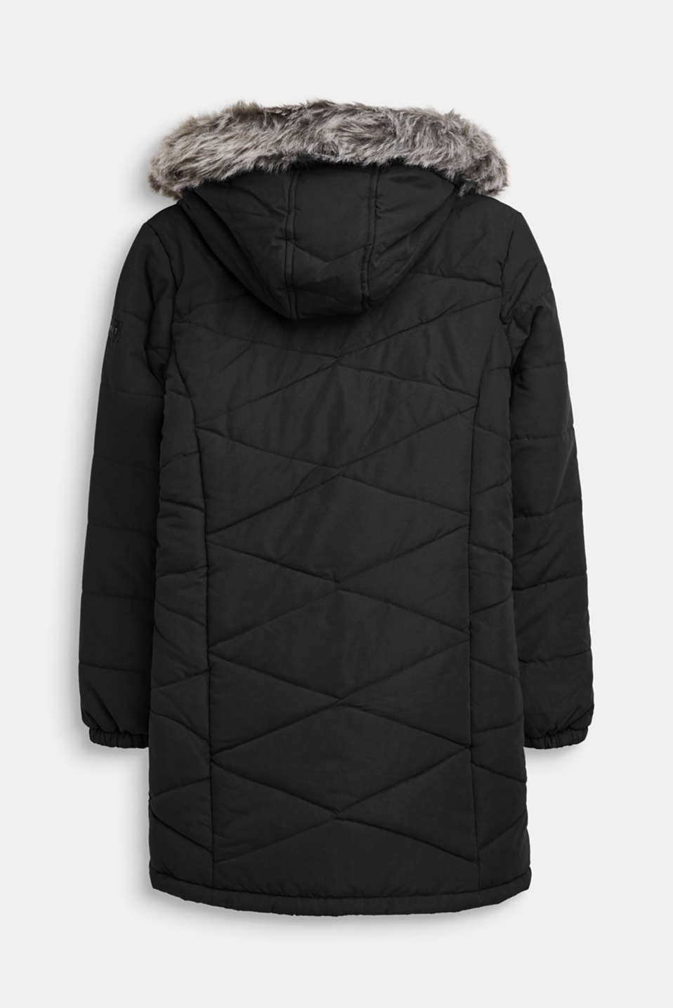 Quilted jacket with an adjustable hood, LCBLACK, detail image number 1