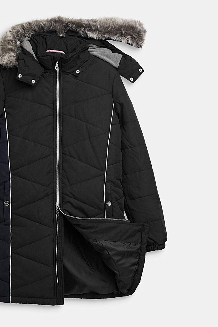 Prošívaná bunda s variabilní kapucí, BLACK, detail image number 2