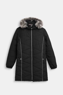 Quilted jacket with an adjustable hood, LCBLACK, detail
