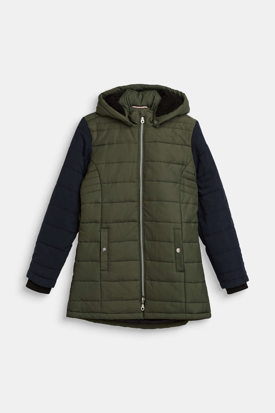 Esprit - Padded parka with an adjustable hood