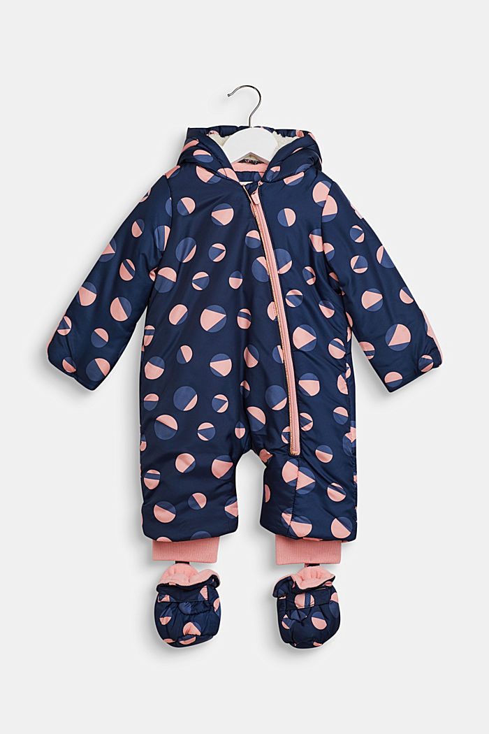 Snowsuit with an all-over print, LCINDIGO, detail image number 0