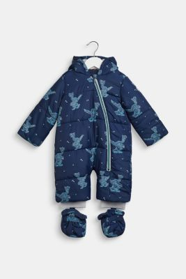 Snowsuit with an all-over print, LCNAVY, detail