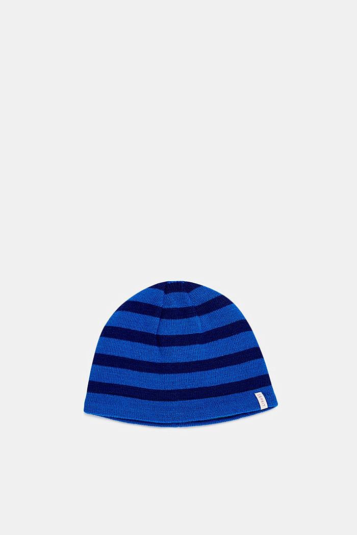 Mütze mit Streifen, BRIGHT BLUE, detail image number 0