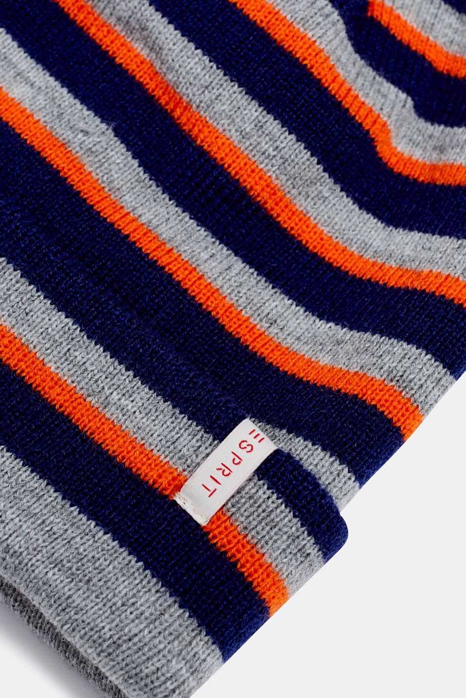 Striped beanie, MARINE BLUE, detail image number 1