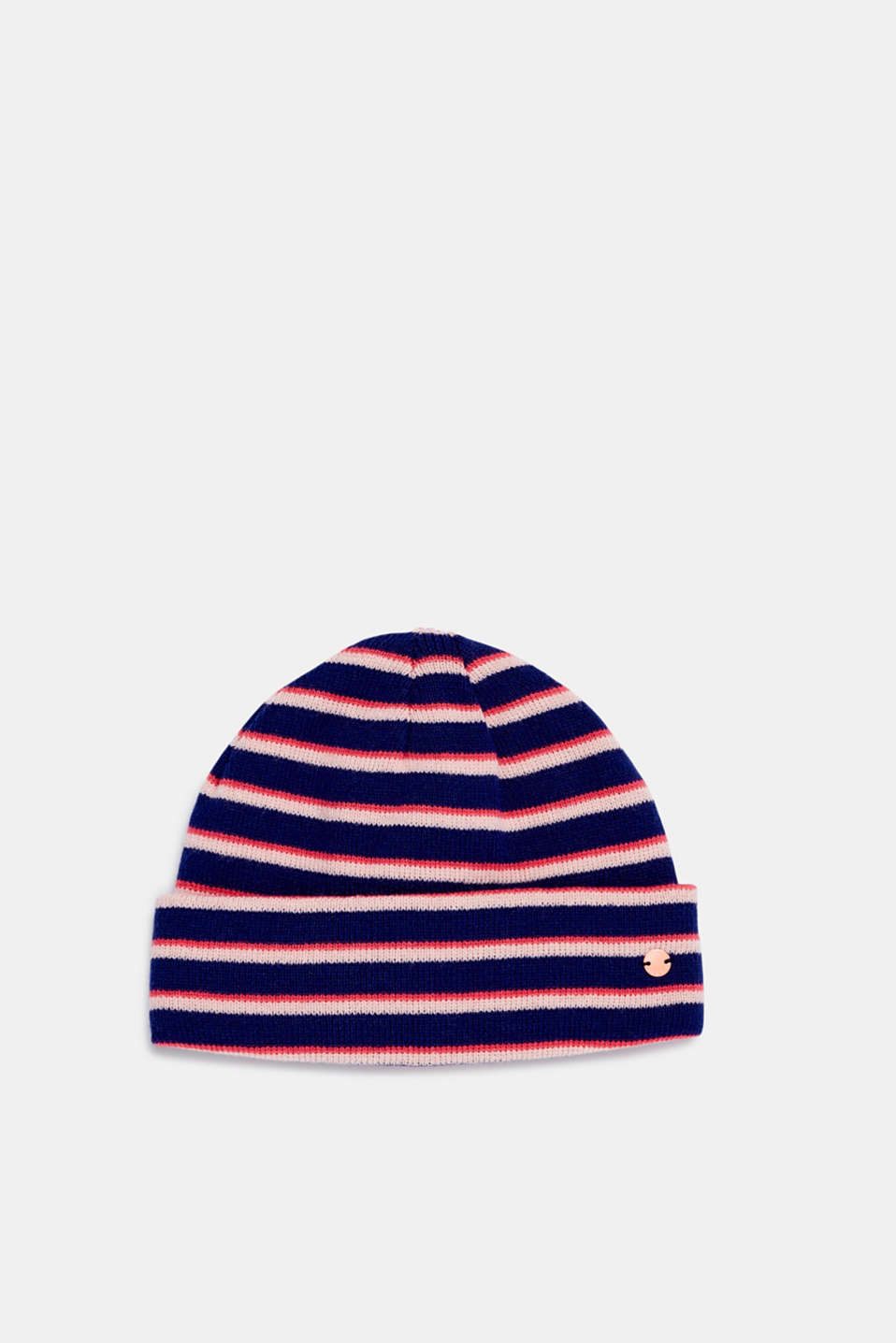 Striped beanie, LCMARINE BLUE, detail image number 0