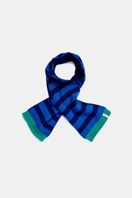 Striped knit scarf, LCBRIGHT BLUE, detail