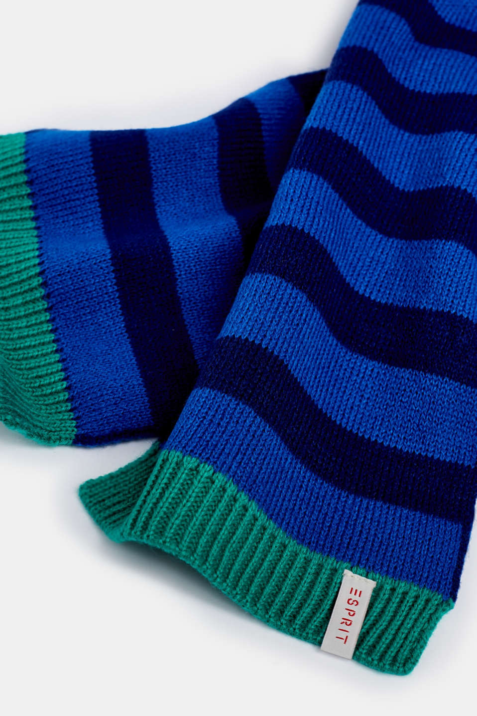 Striped knit scarf, LCBRIGHT BLUE, detail image number 1