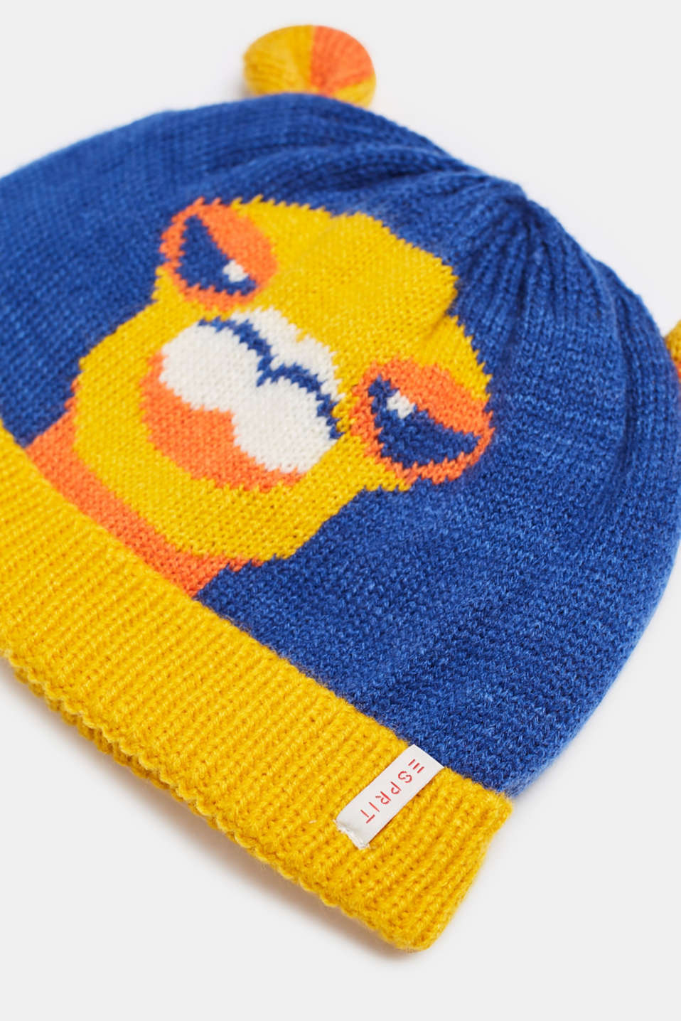 Beanie with knit to keep your ears warm, LCINDIGO, detail image number 1