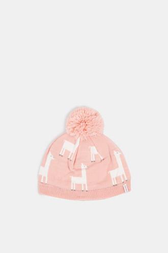 Hat with a llama motif