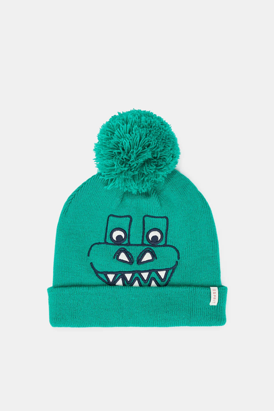 Esprit - Hat with dinosaur face and pompom