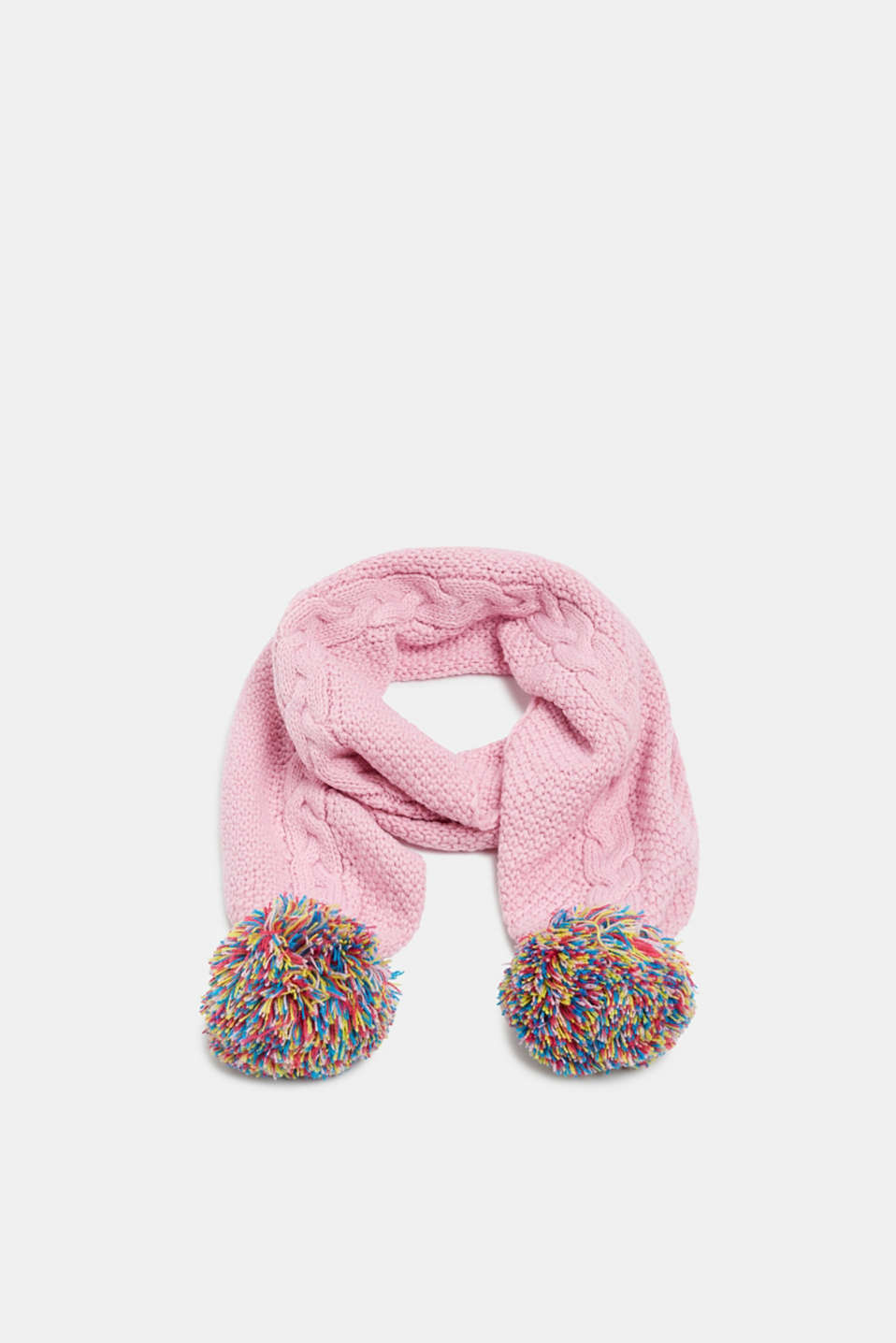 Esprit - Scarf with colourful pompoms
