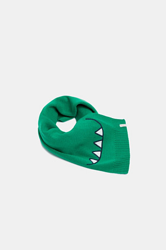 Scarf with a dinosaur mouth