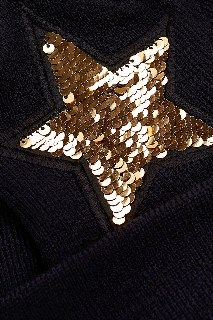 Bonnet en maille à paillettes réversibles, LCBLACK, detail image number 1