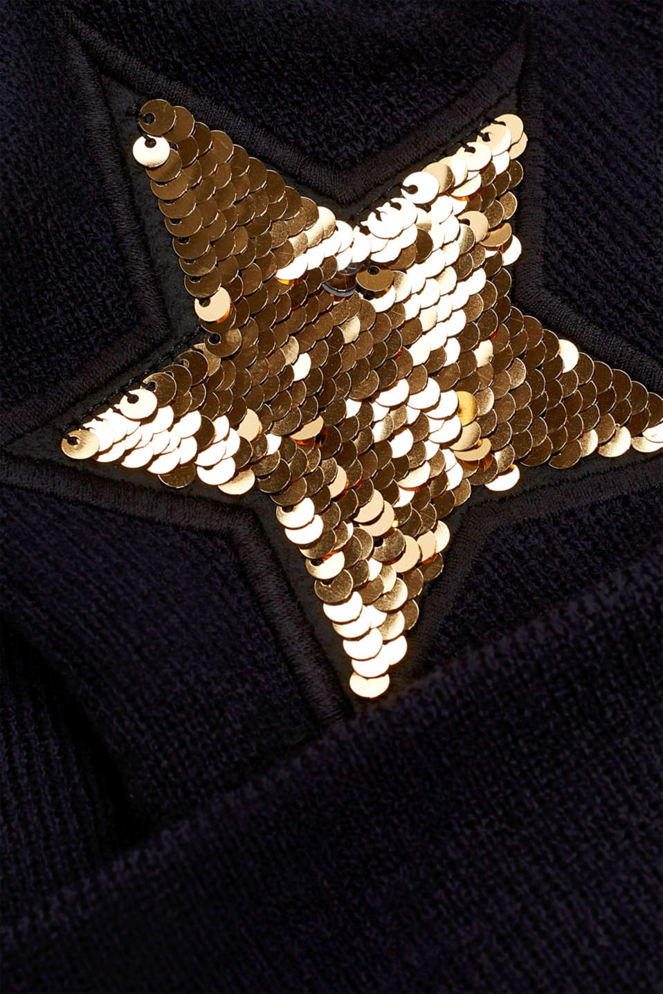 Knitted beanie with reversible sequins, LCBLACK, detail image number 1
