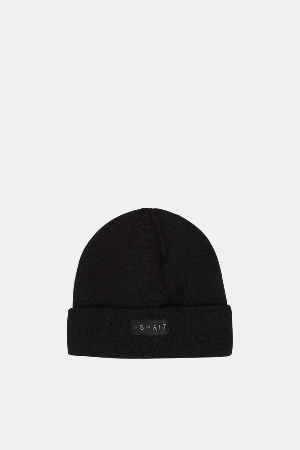 Hat with logo appliqué, LCBLACK, detail image number 0