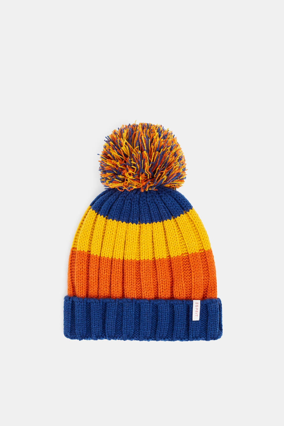 Esprit - Striped hat with a pompom