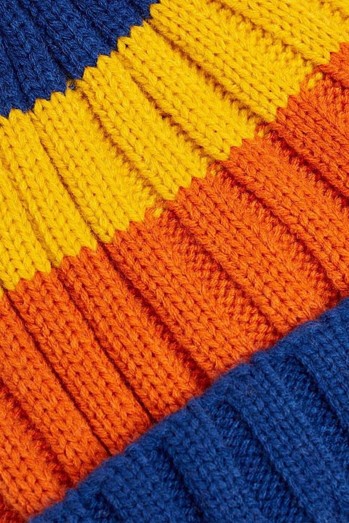 Gorro a rayas con pompón, INDIGO, detail image number 1