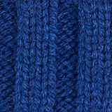 Striped hat with a pompom, indigo, swatch