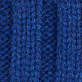 Striped hat with a pompom, indigo, swatch