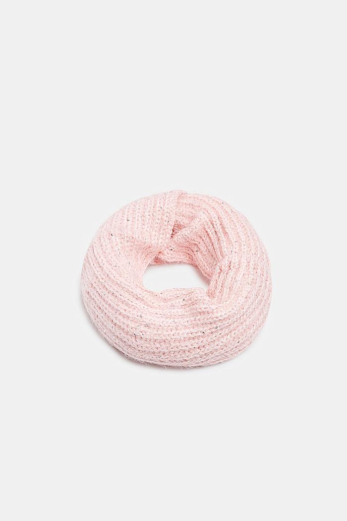 Loop-Schal aus Strick mit Pailletten