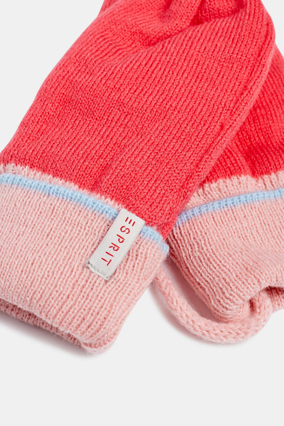Mittens with ribbed cuffs, LCSTRAWBERRY, detail image number 1