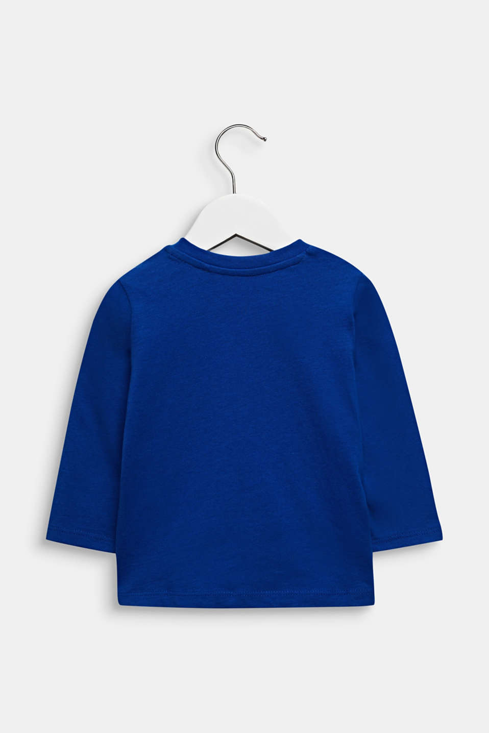 Printed long sleeve top, 100% cotton, LCINFINITY BLUE, detail image number 1