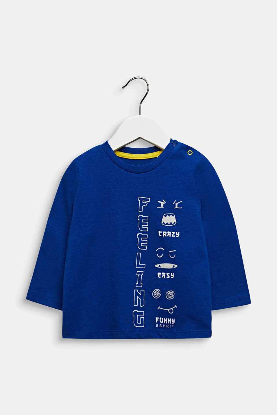 Printed long sleeve top, 100% cotton, LCINFINITY BLUE, detail image number 0