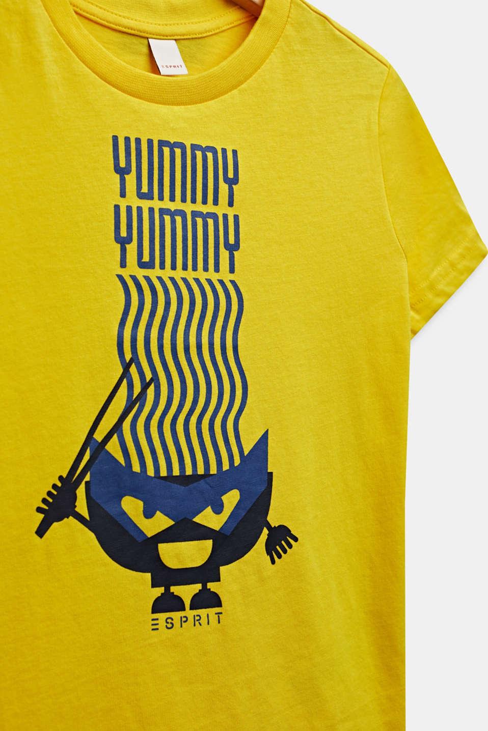 Printed T-shirt, 100% cotton, LEMON, detail image number 2