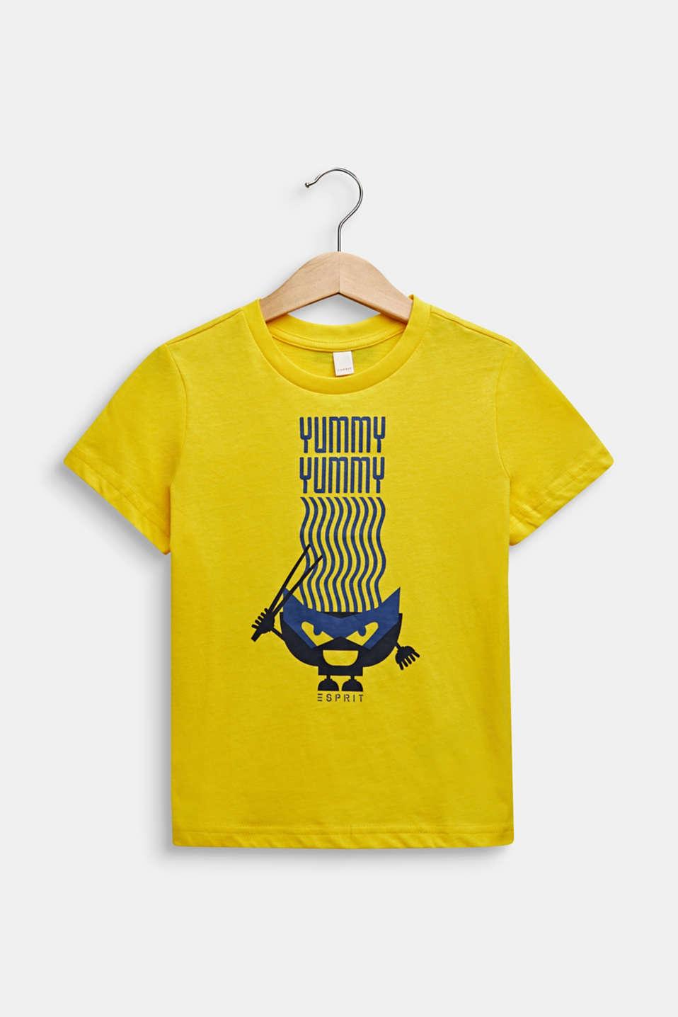Printed T-shirt, 100% cotton, LEMON, detail image number 0