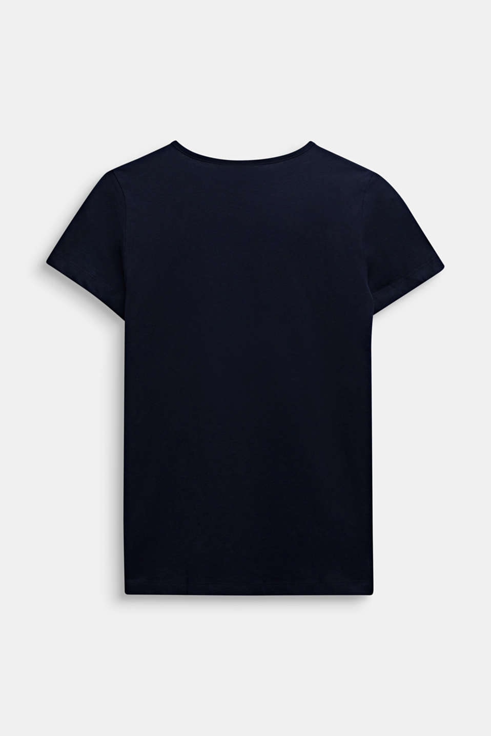Logo print T-shirt in 100% cotton, LCMIDNIGHT BLUE, detail image number 1