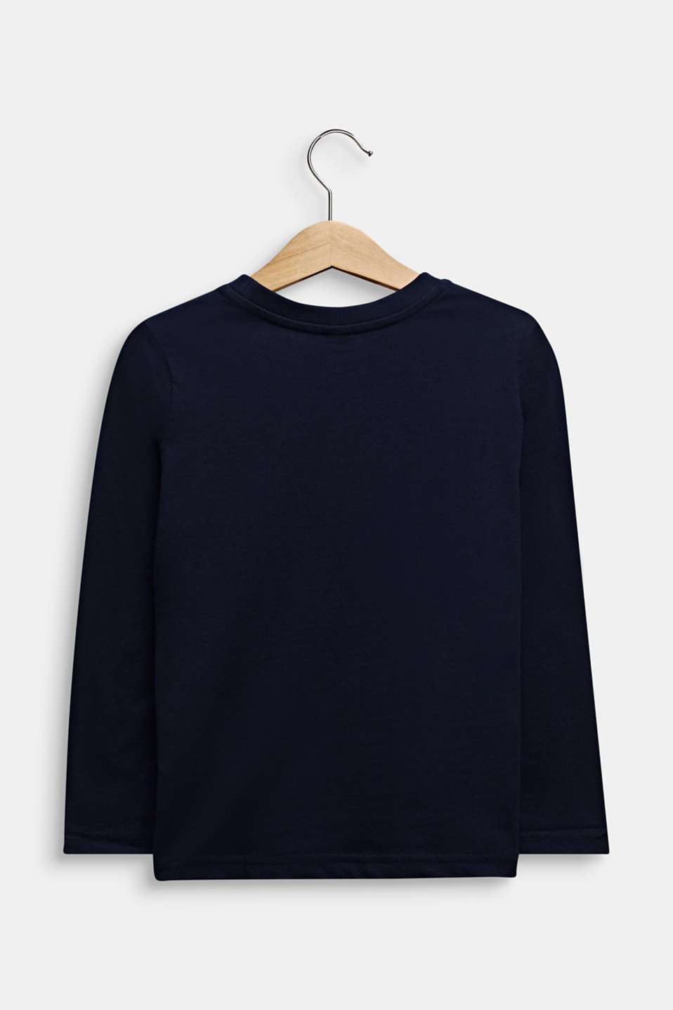 Printed long sleeve top, 100% cotton, MIDNIGHT BLUE, detail image number 1