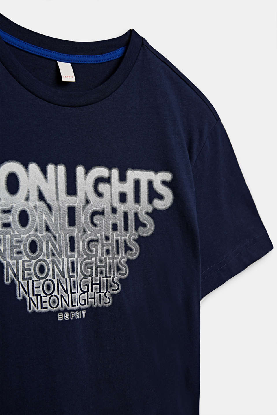 Front print T-shirt, 100% cotton, LCMIDNIGHT BLUE, detail image number 2